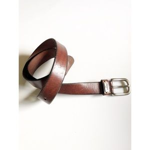 Fossil Brown Leather Belt Size Large NWT